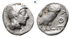 Ancient Coins - Attica. Athens circa 454-404 BC.  Obol AR