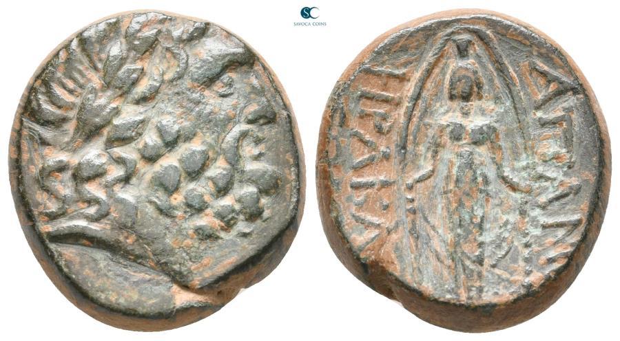 Ancient Coins - Phrygia. Apameia. HPAKΛEI (Herakle-) and EΓΛO (Eglo-), magistrates circa 88-40 BC.  Bronze Æ