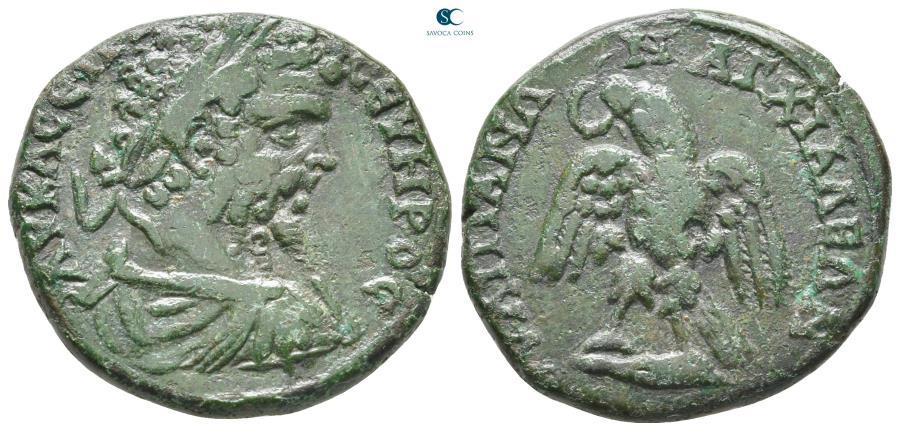Ancient Coins - Thrace. Anchialos. Septimius Severus AD 193-211.  Bronze Æ