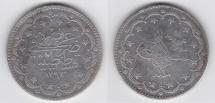 World Coins - 20 Ottoman Piaster 1293AH year 2 *