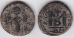 World Coins - Arab-Byzantine AE Standing Emperor Hims