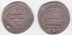 World Coins - ABBASID DIRHAM AR , AL-ABSSIYA , 170 AH .