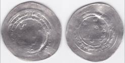 Ancient Coins - Abbasid AR Dirham , Al-radi billah , Ra's Al ayn AH 322 .