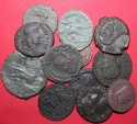 Ancient Coins - Lot comprising 12 late AE Roman coins