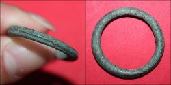 Ancient Coins - Celtic ring Proto money - 7-5. Cent. BC - interesting crease on it