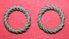 Ancient Coins - Ancient Roman hair ring decoration - two pieces