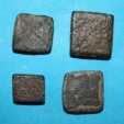 World Coins - Lot comprising 4 medieval weights for beam scale