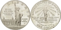 Us Coins - United States, Dollar, 1986, U.S. Mint, San Francisco, MS(63), Silver, KM:214