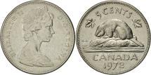 World Coins - Canada, Elizabeth II, 5 Cents, 1972, Royal Canadian Mint, Ottawa, EF(40-45)