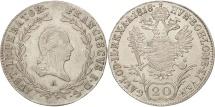World Coins - Austria, Franz II (I), 20 Kreuzer, 1818, Vienne, MS(60-62), Silver, KM:2143
