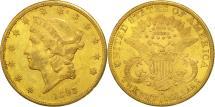 Us Coins - United States, Liberty Head, $20, 1893, San Francisco, AU(50-53), Gold, KM:74.3