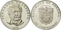 World Coins - Panama, 50 Centesimos, 1975, U.S. Mint, MS(64), Copper-Nickel Clad Copper