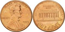 Us Coins - United States, Lincoln Cent, Cent, 1993, U.S. Mint, Philadelphia, AU(50-53)