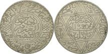 Morocco, 'Abd al-Aziz, Rial, 10 Dirhams, 1902, London, AU(50-53), Silver