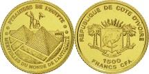Ivory Coast, 1500 Francs CFA, 2006, Pyramides d'Egypte, MS(65-70), Gold