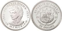 Liberia, 20 Dollars, 1997, MS(65-70), Silver, KM:417