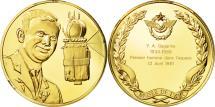 World Coins - France, Medal, L'Histoire de la Conquête de l'Air, Y. A. Gagarine, Aviation