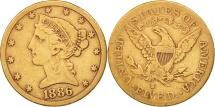 Us Coins - United States, Coronet Head, $5, 1886, San Francisco,VF(30-35),KM 101