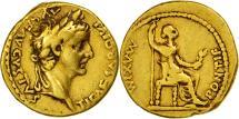Tiberius, Aureus, Lyons, EF(40-45), Gold, RIC:29