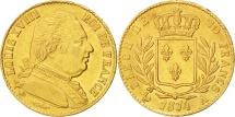 France, Louis XVIII, 20 Francs, 1814, Paris, AU(50-53), Gold, KM 706.1