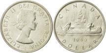 World Coins - Canada, Elizabeth II, Dollar, 1960, Royal Canadian Mint, Ottawa, MS(63), Silver