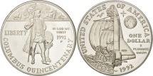 Us Coins - United States, Dollar, 1992, U.S. Mint, Philadelphia, MS(63), Silver, KM:238