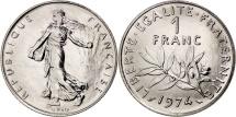 France, Semeuse, Franc, 1974, Paris, MS(65-70), Nickel, KM:925.1, Gadoury:474