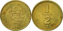 World Coins - Peru, 1/2 Sol, 1976, AU(50-53), Brass, KM:265