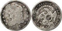 Us Coins - UNITED STATES, Liberty Cap Half Dime, Half Dime, 1834, U.S. Mint, KM #47,...