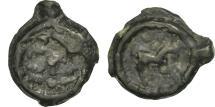 Ancient Coins - Nervii, Potin au rameau, VF(20-25), Potin, Delestrée:629