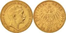 German States, PRUSSIA, Wilhelm II, 20 Mark, 1900, Berlin, EF(40-45), Gold