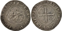 World Coins - France, Charles VII, Blanc à la couronne, Paris, EF(40-45), Silver