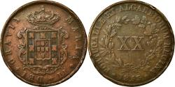 World Coins - Coin, Portugal, Maria II, 20 Reis, 1853, , Copper, KM:482