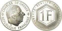 Ancient Coins - Coin, France, Charles de Gaulle, Franc, 1988, Paris, Proof, , Silver