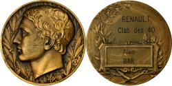 World Coins - France, Medal, Automobile, Renault, Club des 40, Vernon, , Bronze