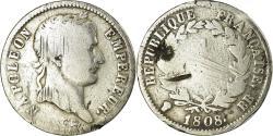 World Coins - Coin, France, Napoléon I, Franc, 1808, Strasbourg, , Silver, KM:682.3