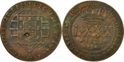 World Coins - Coin, Brazil, 80 Reis, 1821, Bahia, EF(40-45), Copper, KM:342.1