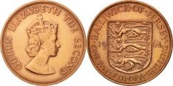 World Coins - Jersey, Elizabeth II, 1/12 Shilling, 1964, , Bronze, KM:21