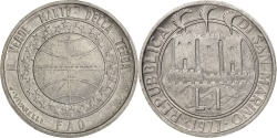 World Coins - San Marino, Lira, 1977, Rome, , Aluminum, KM:63