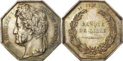 World Coins - France, Token, Savings Bank, Louis Philippe I, Banque de Lille, 1836, Depaulis