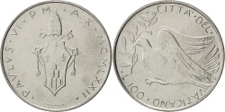 World Coins - VATICAN CITY, 100 Lire, 1972, KM #122, , Stainless Steel, 27.9, 7.97