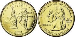 Us Coins - Coin, United States, Quarter, 2001, U.S. Mint, Philadelphia,