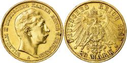 Ancient Coins - Coin, German States, PRUSSIA, Wilhelm II, 20 Mark, 1910, Berlin,