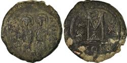 Ancient Coins - Coin, Justin II, Follis, 574-575, Constantinople, , Copper, Sear:360