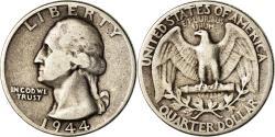 Us Coins - Coin, United States, Washington Quarter, Quarter, 1944, U.S. Mint, Philadelphia