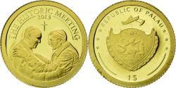 World Coins - Coin, Palau, Dollar, 2013, The historic meeting, , Gold