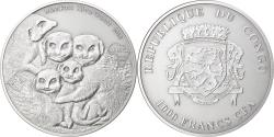 World Coins - Coin, Congo Republic, Meerkats, 1000 Francs CFA, 1 Silver Oz, 2013,
