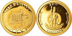 World Coins - Coin, Vanuatu, Sand drawing, 20 Vatu, 2011, B.H. Mayer, , Gold, KM:67