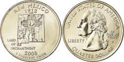 Us Coins - Coin, United States, New Mexico, Quarter, 2008, U.S. Mint, Dahlonega,