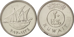 World Coins - Kuwait, 20 Fils, 2012, , Copper-nickel
